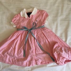 Ralph Lauren Collared Infant Dress with Bloomers